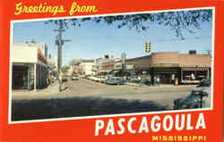 Greetings From Pascagoula Postcard