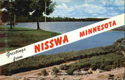 Greetings From Nisswa Postcard