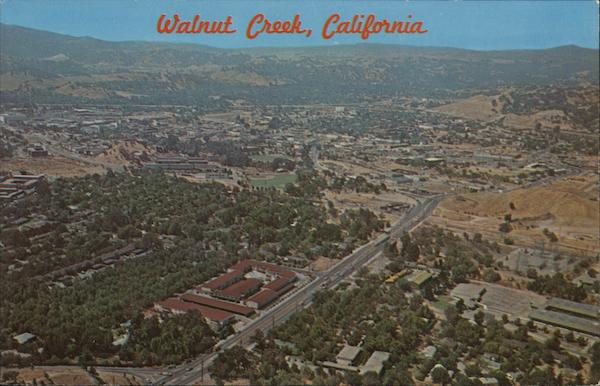 Aerial View of Walnut Creek California Gerry French