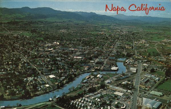 Aerial View of City Napa California