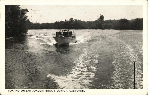 Boating on San Joaquin River Stockton California