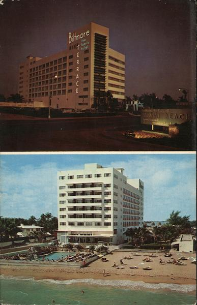 Biltmore terrace hotel miami beach fl postcard for Terrace hotel florida