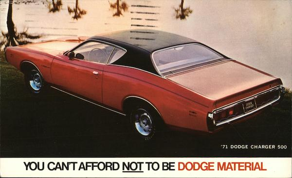 1971 Dodge Charger 500 Cars