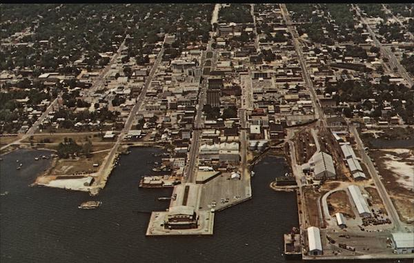Aerial View of Downtown Pensacola Florida