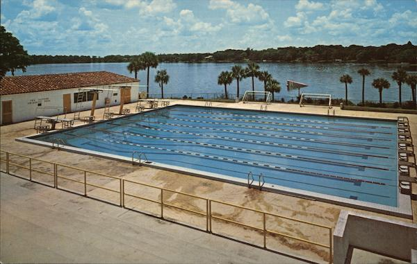 The alfond swimming pool winter park fl postcard for Winter garden pool