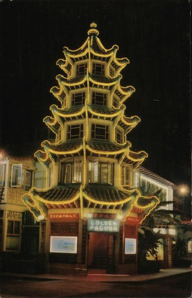 Golden Pagoda - Chinatown Los Angeles California