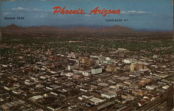 Aerial View of City Phoenix Arizona Bob Petley