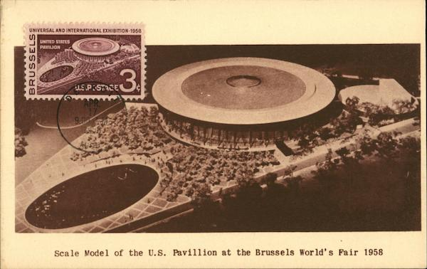 Scale Model of the US Pavillion at the Brussels Worlds Fair Belgium