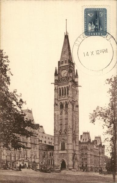 Parliament Building Ottowa Canada Ontario Maximum Cards