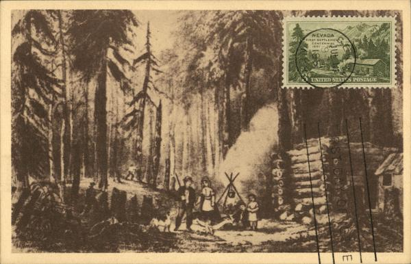 Among the Pines - Early Settlers in Nevada Art Maximum Cards