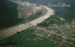 Aerial of Scotia and the Eel River