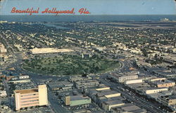 Beautiful Hollywood, Fla. Postcard