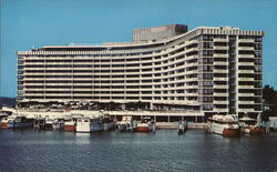 King Cole Apartments and Yacht Basin Postcard