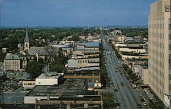 Aerial View of West College Avenue Postcard