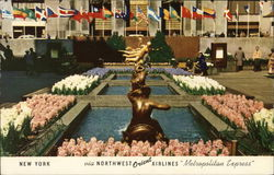 Rockefeller Center - Flags of All Nations Court Postcard