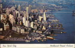New York City Northwest Orient Airlines Postcard