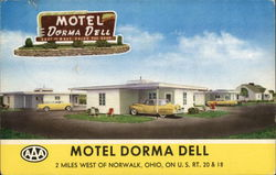 Motel Dorma Dell (now the location of the Norwalk Baptist Church) Postcard