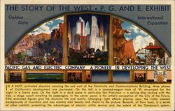 The Story of the West, PG and E Exhibit, Golden Gate International Exposition