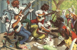 Cats Playing Guitars