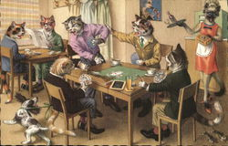 Dressed Cats Playing Cards