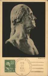 Bust of George Washington, by Jean Antoine Houdon Postcard