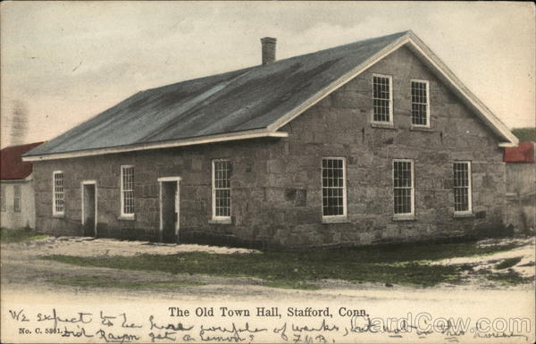 The Old Town Hall Stafford Connecticut