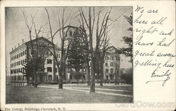 The College Buildings Claverack New York