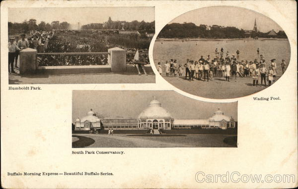 Humboldt Park, Wading Pool and South Park Conservatory Buffalo New York