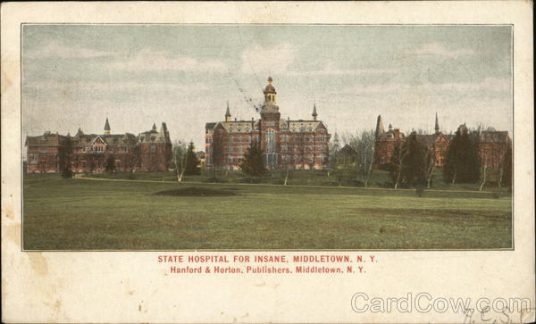 State Hospital for the Insane Middletown New York