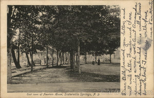 East Lawn of Fountain House Slaterville Springs New York