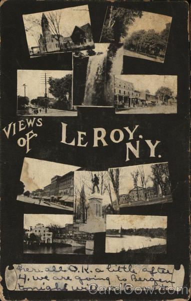 10 Small Inset Photos - Views of Leroy, NY Le Roy New York