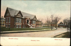 Norwalk Library and Grace Church