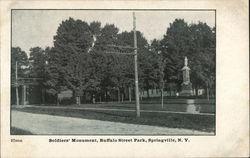 Soldiers' Monument, Buffalo Street Park
