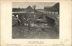 The Herring Weir, On the Road to Mattapoisett Postcard
