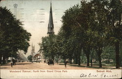 Woodward Avenue; North from Grand Circus Park