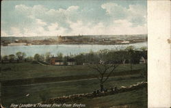 New London & Thames River from Groton