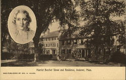 Harriet Beecher Stowe (Inset) and Residence
