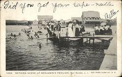 Bathing Scene off Benjamin's Pavilion, Bay Shore, Long Island