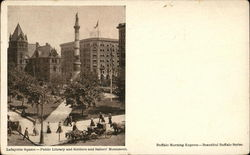 Lafayette Square - Public Library and Sailors Monument