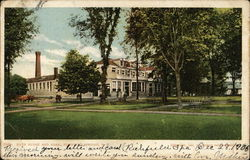 Bath House and Park Postcard