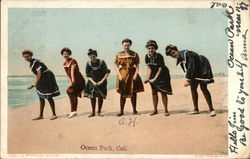 Girls in Bathing Outfits Postcard
