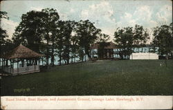 Orange Lake - Band Stand, Boat House and Amusement Ground