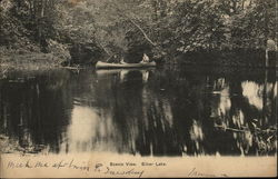 Scenic View, Silver Lake Postcard