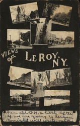 10 Small Inset Photos - Views of Leroy, NY