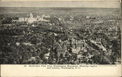Bird's-Eye View from Washington Monument, Showing Capitol and Library