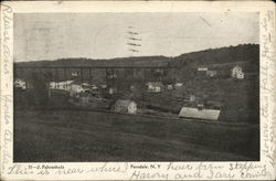 View of Houses and Town Postcard