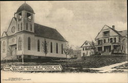 Saint Aloysisus R. C. Church and Rectory Postcard
