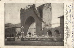 Memorial Arch, Stanford University, Cal., After the Earthquake and Fire April 18, 1906