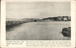 Bailey Island & Orrs Island Bridge Postcard