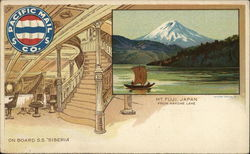 Mt. Fuji, Japan from Hakone Lake - On Board S. S. Siberia, Pacific Mail Co.
